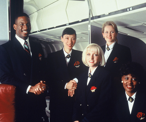 Flight Attendant Uniforms, 1983-2001