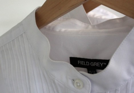 Ready Wear by Field Grey, Bib Shirt pleated