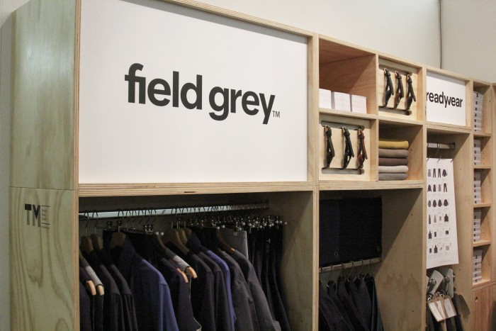 Field Grey stand design at London Design Fair 2017