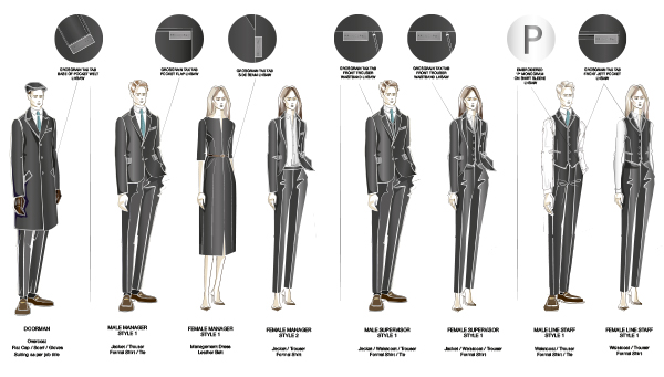 Principal Hotel Company Uniform Design Field Grey