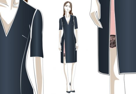 Field Grey Home House Cocktail Dress Design
