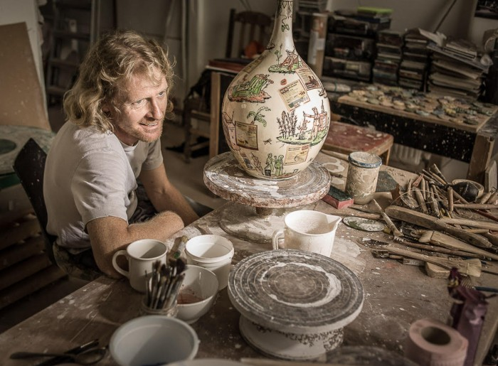 Grayson Perry In His Studio Peter Searle