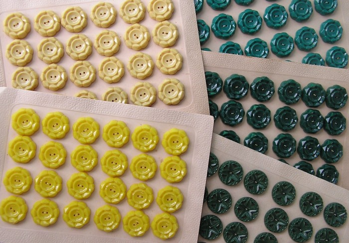 Mass produced iconic buttons button