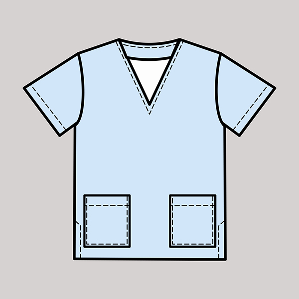 NHS Scrubs Field Grey Uniform Design
